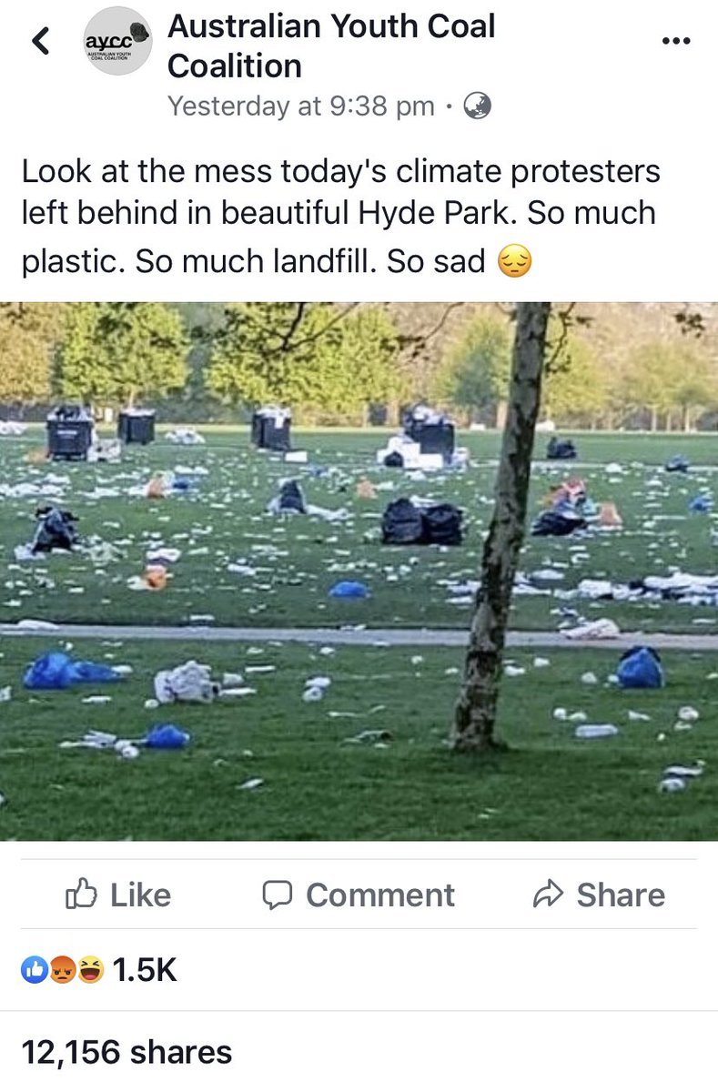 Viral misinformation doing rounds. This pic is from an event in Hyde Park, London in April unrelated to climate protests. snopes.com/fact-check/pro…