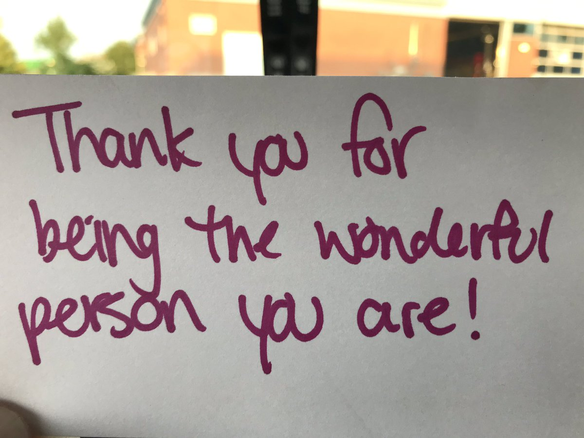 Wow, I found this kind note on my fire vehicle windshield today! Very nice to be appreciated, reminds me how proud I am to serve Londoners.  And thank you to who ever you are, this made my day! <br>http://pic.twitter.com/s9il7zhjLj