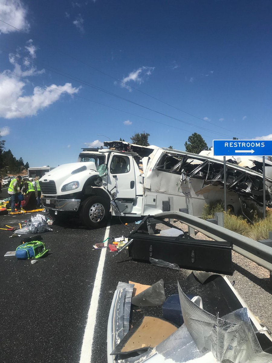 At least 4 dead and 12 critically injured in tour bus crash in Utah