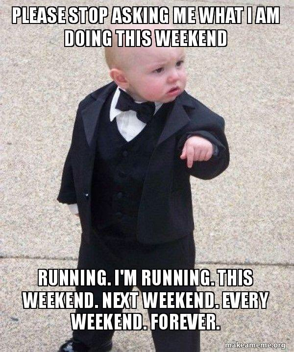 What are you doing this weekend? #running #marathontraining