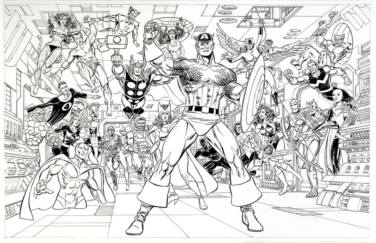 Avengers by Paul Ryan and Tom Palmer <br>http://pic.twitter.com/1HPIVJd8NL