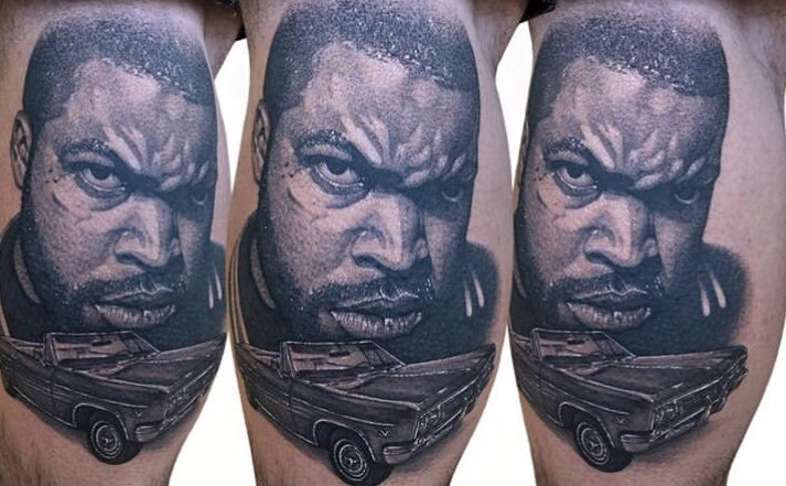 @icecube can I get a retweet for this tat I got of you <br>http://pic.twitter.com/SFUJqlutqu
