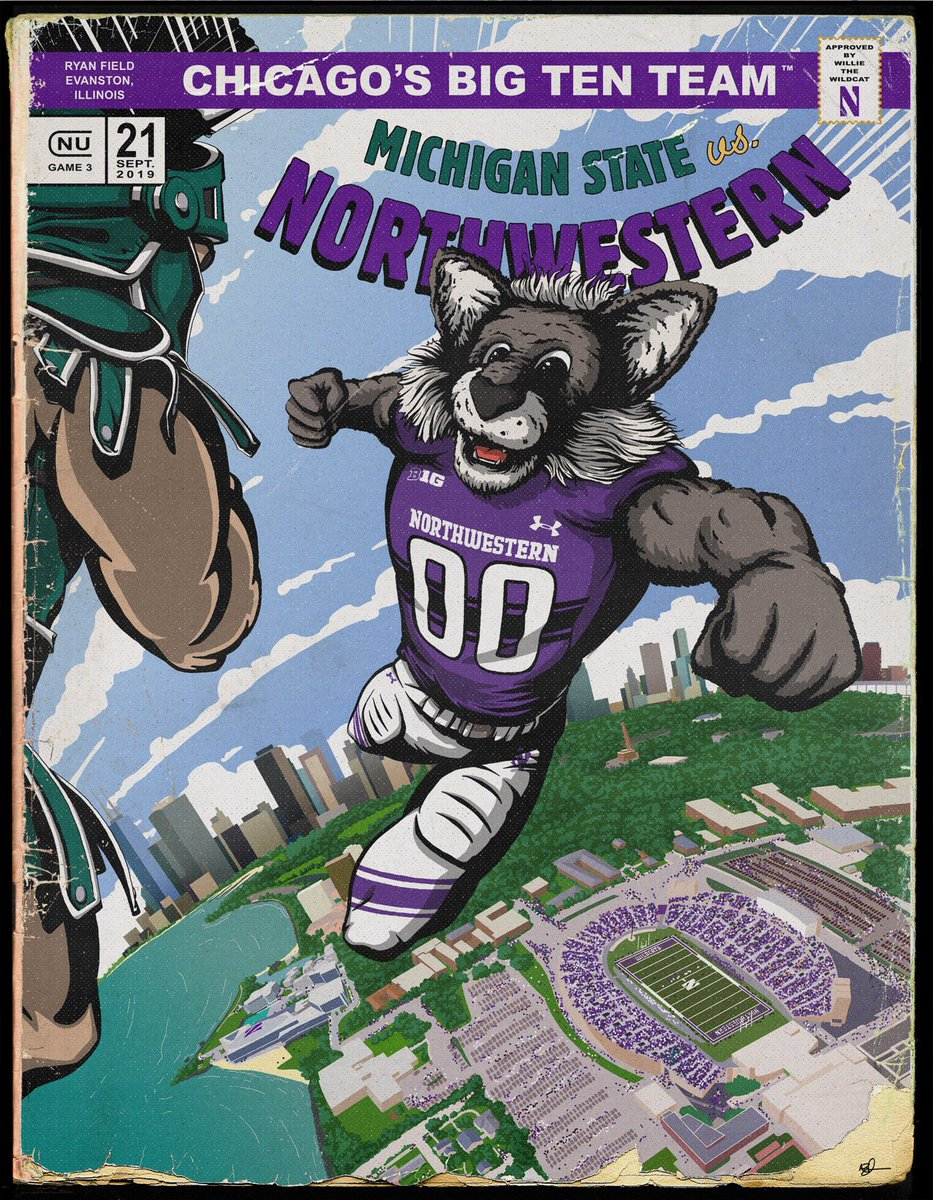 .@NUWildside & #NU2023: The special gameday poster will be distributed on your way OUT of Ryan Field tomorrow so you don't have to worry about it in the stands. #GoCats