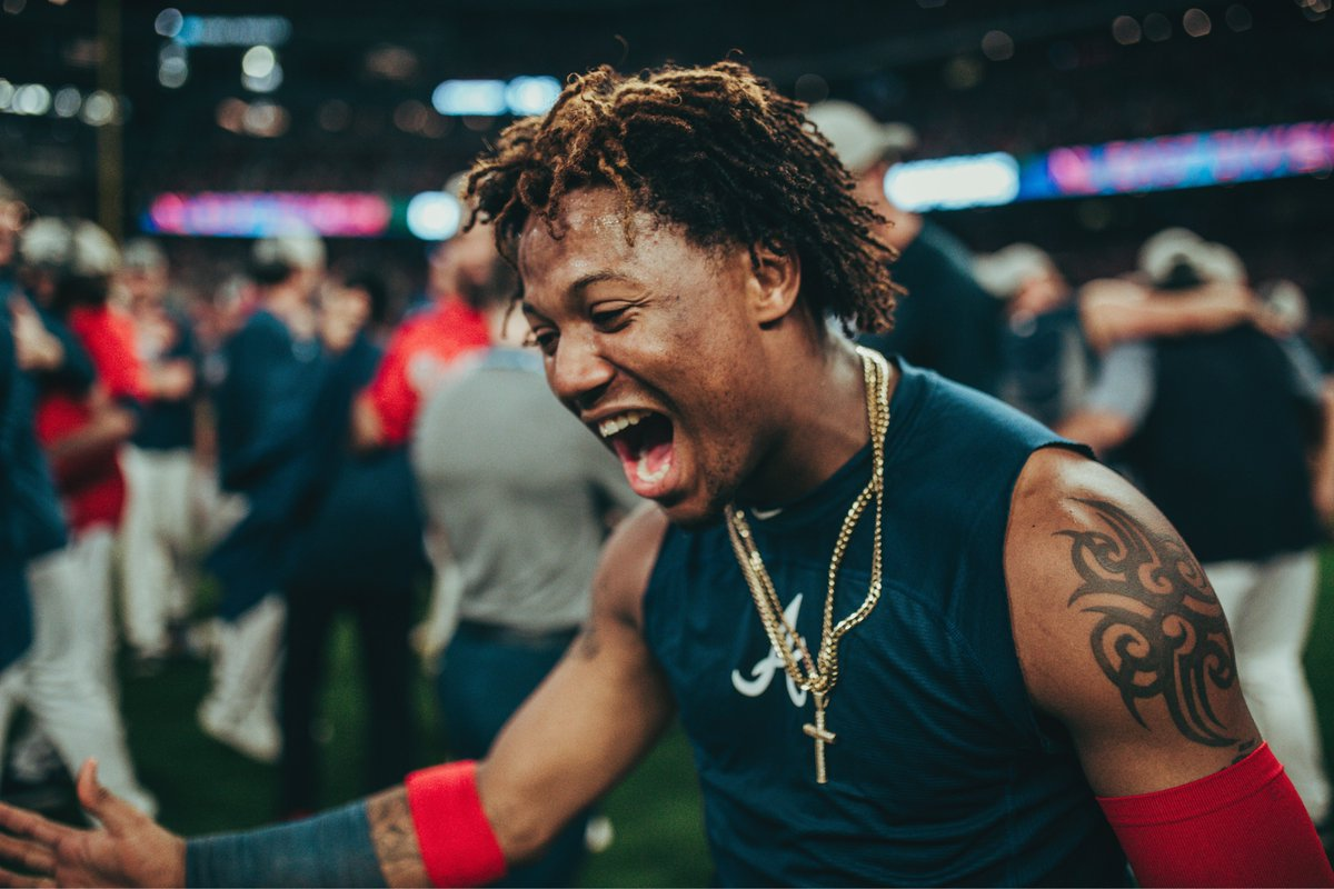 That puts a bow on Friday night baseball.We'll leave you with some pics of Ronald Acuña Jr. living his best life from earlier tonight.Night, y'all.