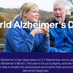 Image for the Tweet beginning: Today is #WorldAlzheimersDay💙 We can