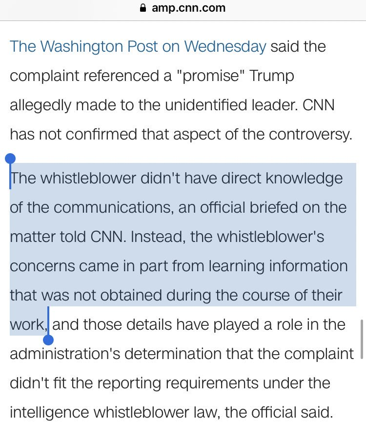 CNN buried the lead 21 paragraphs in (Yes, I counted)