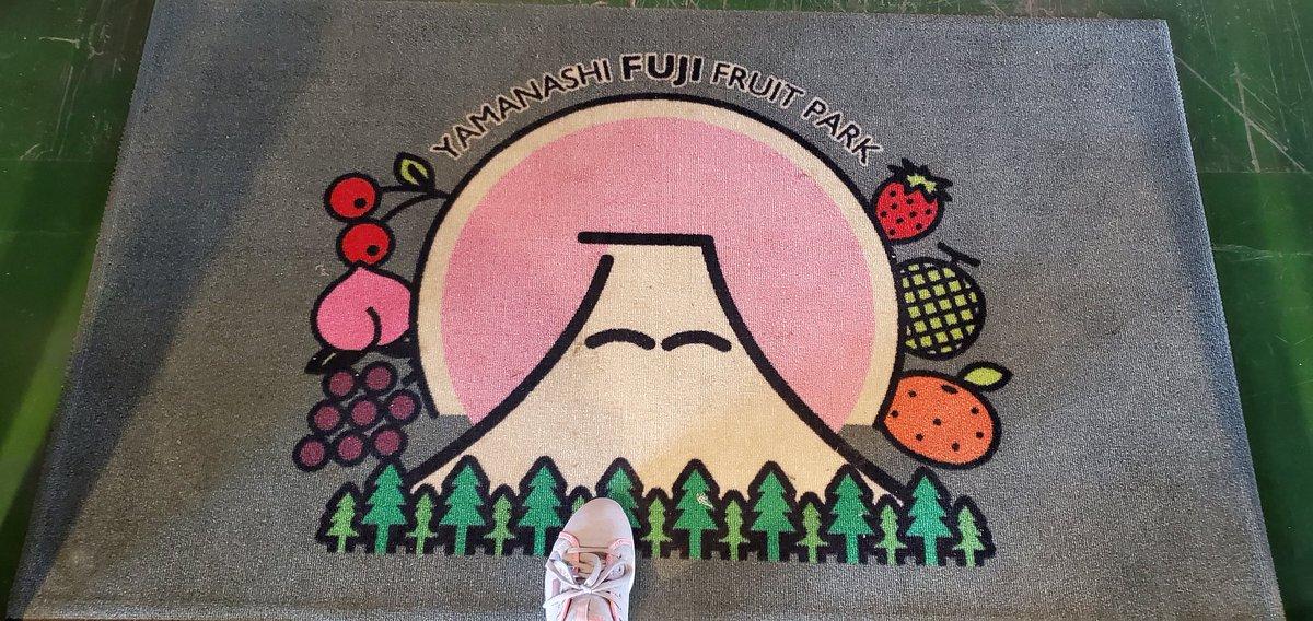 #山梨FUJIフルーツパーク  富士山のオブジェ。 シャインマスカット。土産は何にしようかな❓ https://t.co/QtQGZmjP02