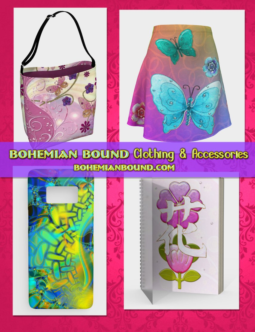 Bohemian Bound has you covered! Literally!! Check out our growing selection of cool, colorful trendy dresses, headbands, makeupbags & More printed by ArtofWhere.com! #headbands #fashion #design #artofwhere #digitalart #colorfulbags #bags #clothing https://artofwhere.com/artists/bohemianbound