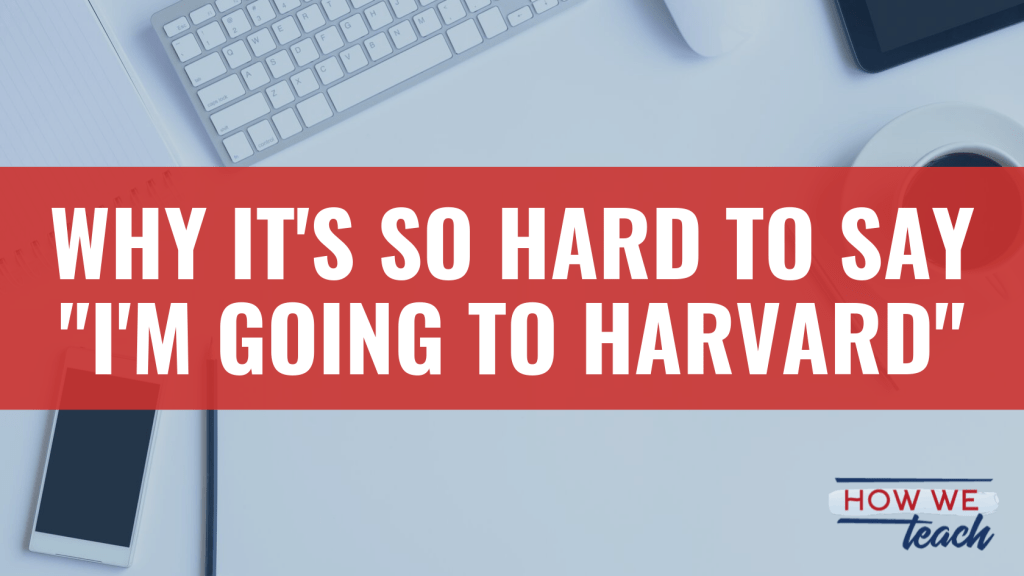 "Why It's So Hard to Say ""I'm Going to Harvard"" — A #LeadershipJournal post exploring women's reluctance to claim our accomplishments. #EdLeaders #EdLD #T3Learns #EdLeadership  https:// howweteach.com/why-its-so-har d-to-say-im-going-to-harvard/   … <br>http://pic.twitter.com/18Xrub3NB1"