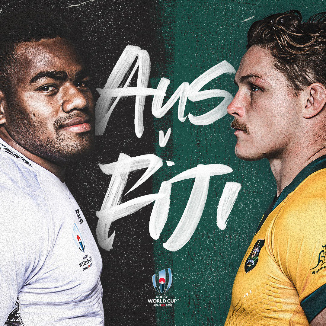 test Twitter Media - The Flying Fijians v the two-time world champions.  This has fast-paced and end-to-end written all over it! 🔥💯   13:45hrs (GMT+9): rugbyworldcup,com/broadcasters   #AUSvFIJ! #RWC2019 #SuperSaturday #RWCSapporo https://t.co/ZlfCmRobqe
