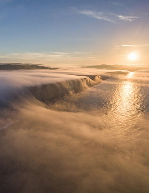 Clouds rolling over the Cliffs in West Bay at sunrise, Dorset, England, James Loveridge!  <br>http://pic.twitter.com/rKK4xN6Uqv