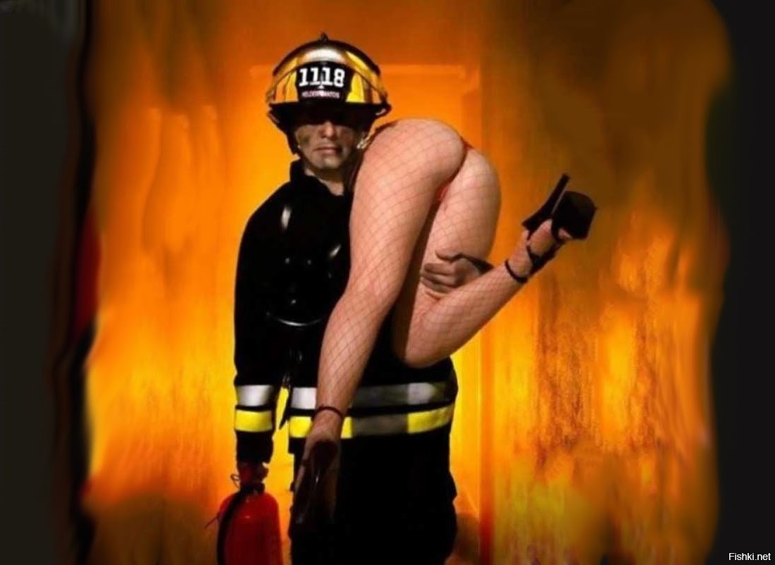 Fat naked firefighter gif