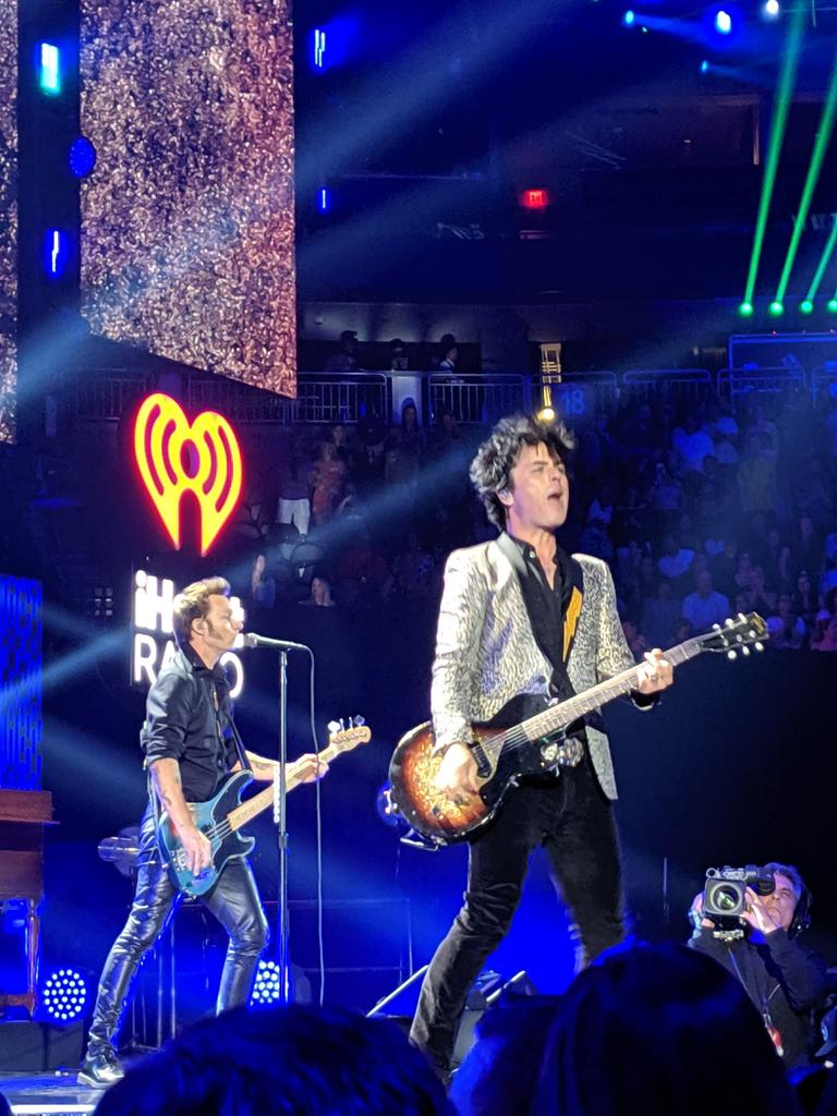 I got to see @GreenDay open the #iheartfestival2019 I'm trying real hard not to freak out.