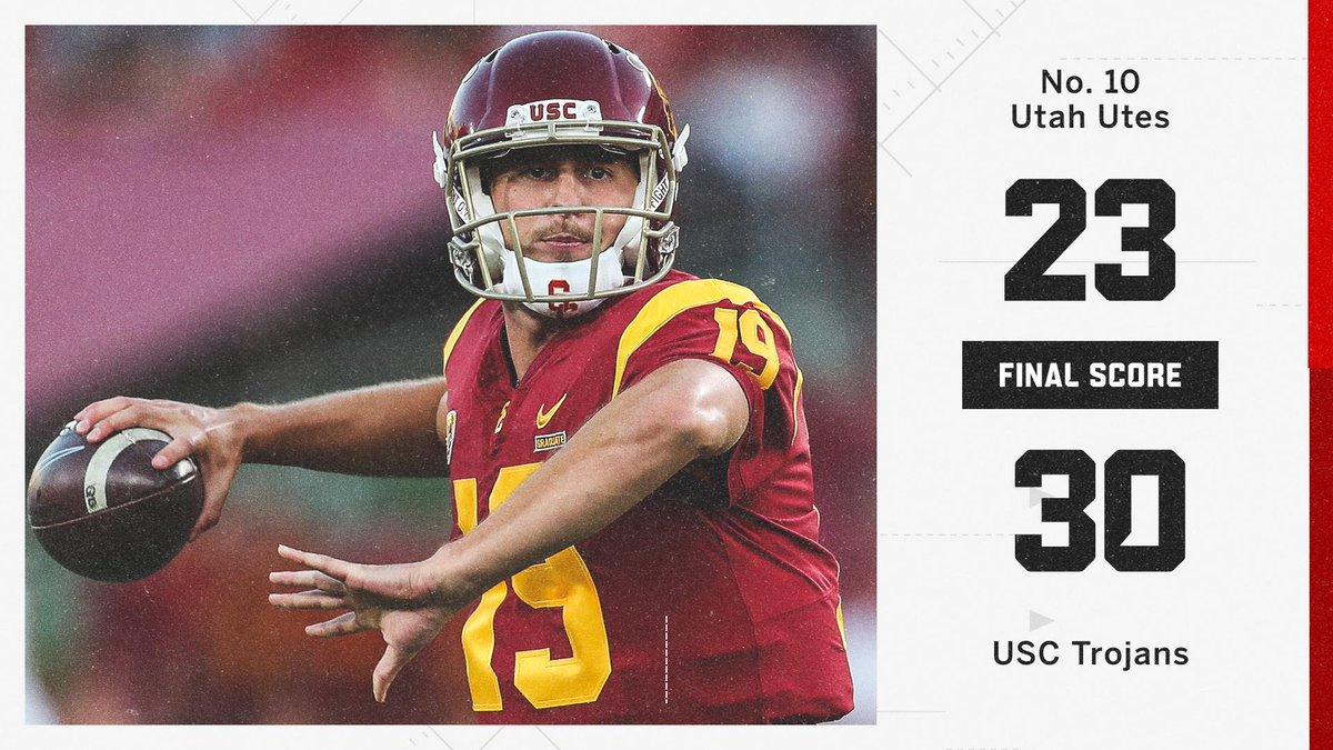 🚨 UPSET IN LA! 🚨 The unranked USC Trojans take down the No. 10 Utah Utes!
