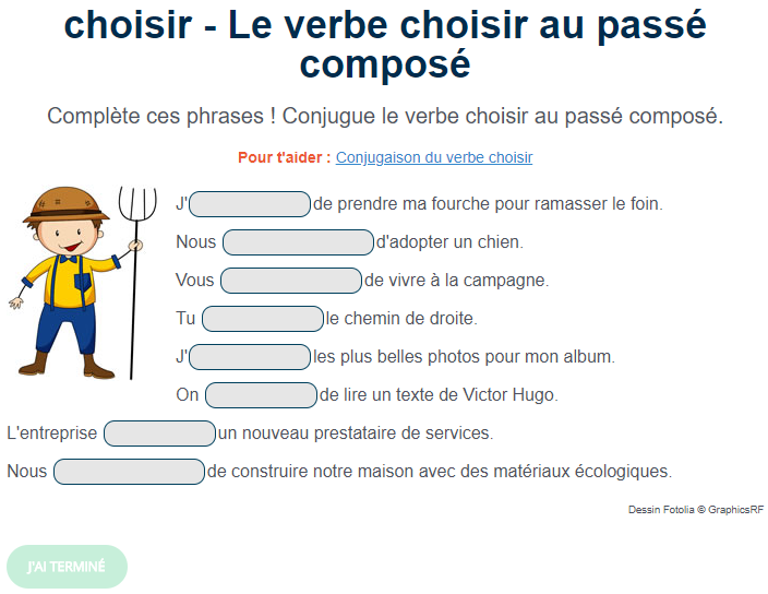 Ortholud Com On Twitter Exercice De Conjugaison Le Verbe Choisir Au Passe Compose Complete Ces Phrases Conjugue Le Verbe Choisir Au Passe Compose Https T Co Bnloqrinq8 Https T Co Qfmcgxazei