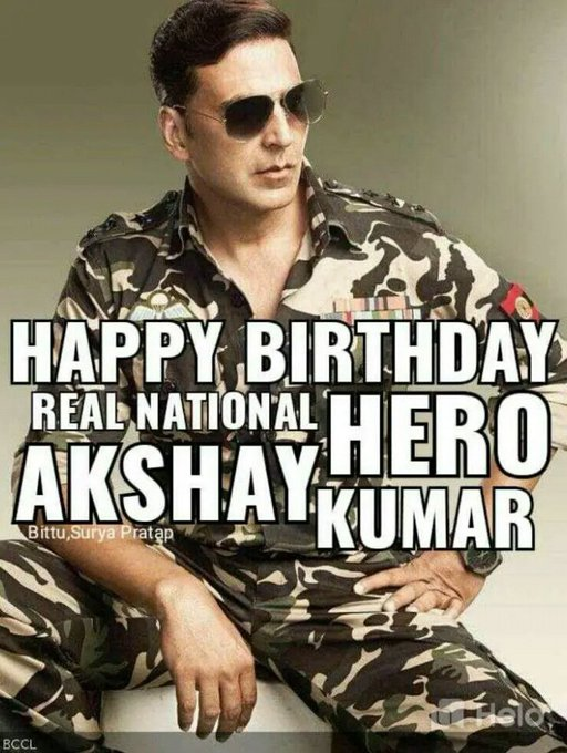 Happy Birthday to Akshay Kumar who is always dedicated to country service.Always Be Healthy Be Happy