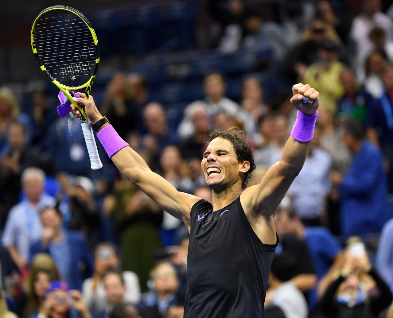 Rafael Nadal celebra su victoria en el US Open.