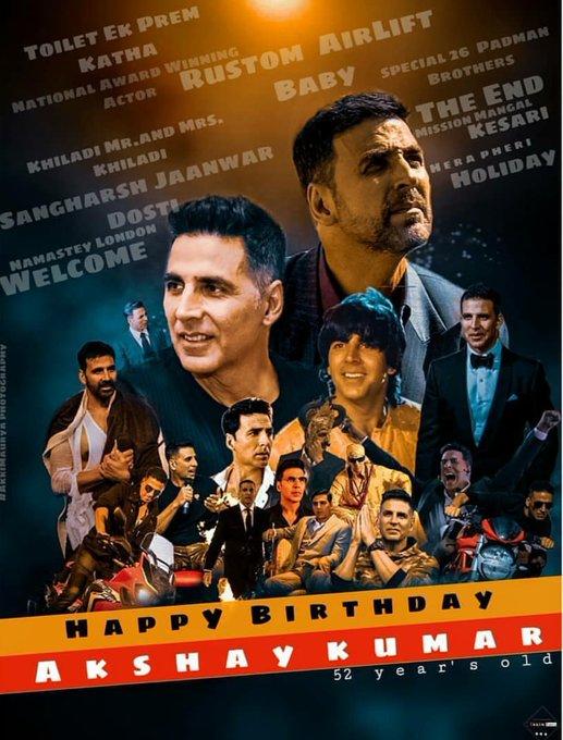 Happy Birthday to my superhero Akshay Kumar  .