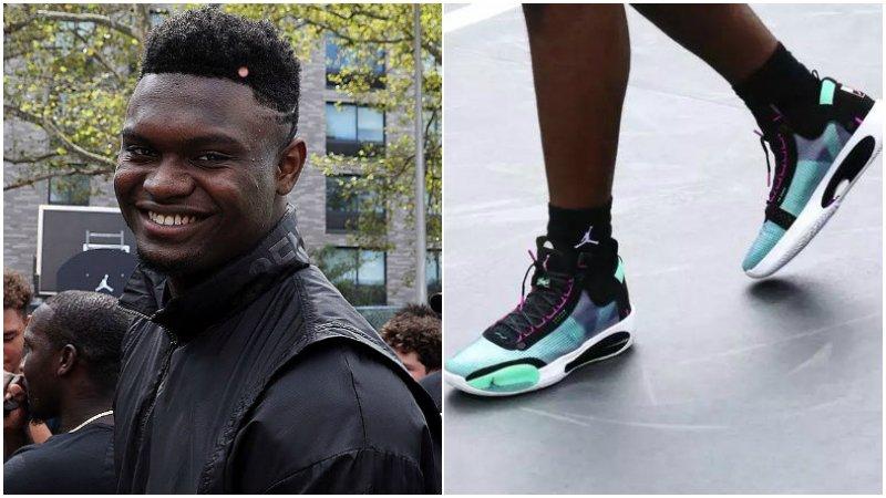 太酷了!狀元Zion上腳最新的AJ34,中底鏤空的全新球鞋科技!