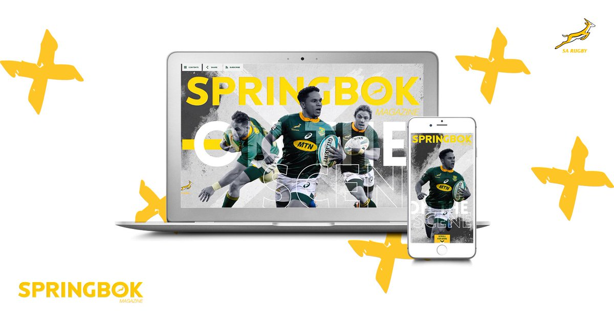 LIVE - Check out the brand new #Springbok Online Mag - created for mobile & desktop viewing! 📱💻 🖥 🏉 Featuring: Rassie | Duane | Handre & so much more... Here >> springbokmagazine.com/issue-40/cover