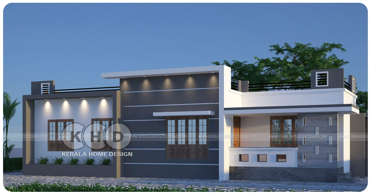 Kerala Home On Twitter Single Floor Flat Roof House Https T Co R8upcjqsl6