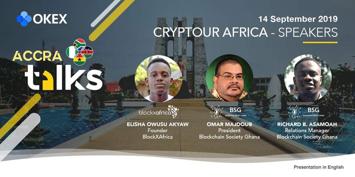Our Ambassador program coordinator Richard B. Asamoah promoting cryptocurrency and blockchain adoption at Accra talks in Africa.