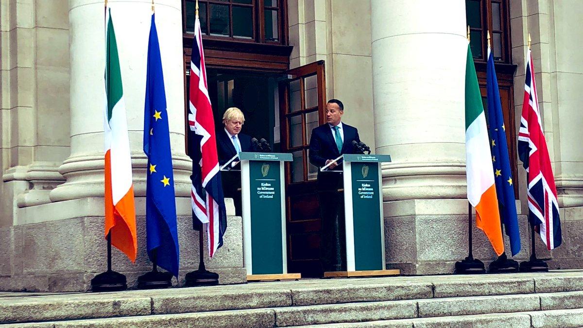 Brexit: 'No backstop is no deal', Irish PM Varadkar says ahead of talks with UK's Johnson