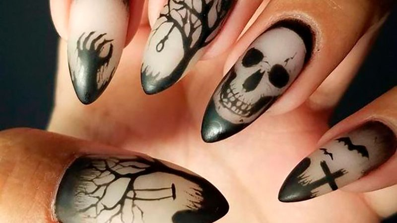 stylishbelles Amazing Gothic nail art ideas for Halloween