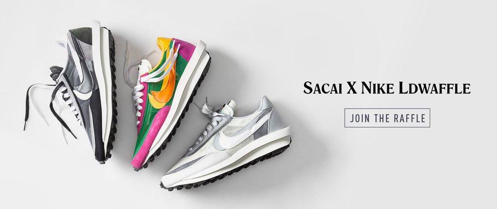 Nike x Sacai LDWaffle RAFFLES OPEN The Drop Date