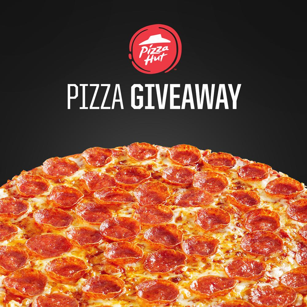 WIN a Large Pizza Today 🙌  Feeling lucky? Enter our competition for a chance to win a LARGE pizza plus any 4 toppings! To enter, simply RT and let us know where your local Hut is🍕#giveaway https://t.co/cj3hmAnhgv