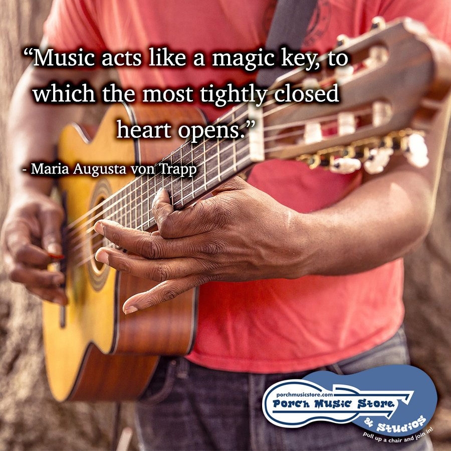 Music has the ability to put you in the right frame of mind to achieve anything.   Let us know what you love most about music!   http:// porchmusicstore.com      #music #musicstore #franklinpa #musicinspiration #musiceducation #musiclessons #musicinstruments #mondaymotivation<br>http://pic.twitter.com/djCYf3dRSz