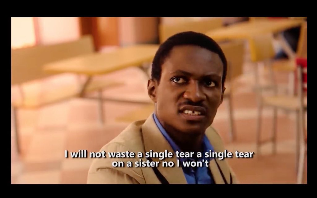 When you break a Christian brother's heart 😐#GbemiTheMovie Outside...                                inside...