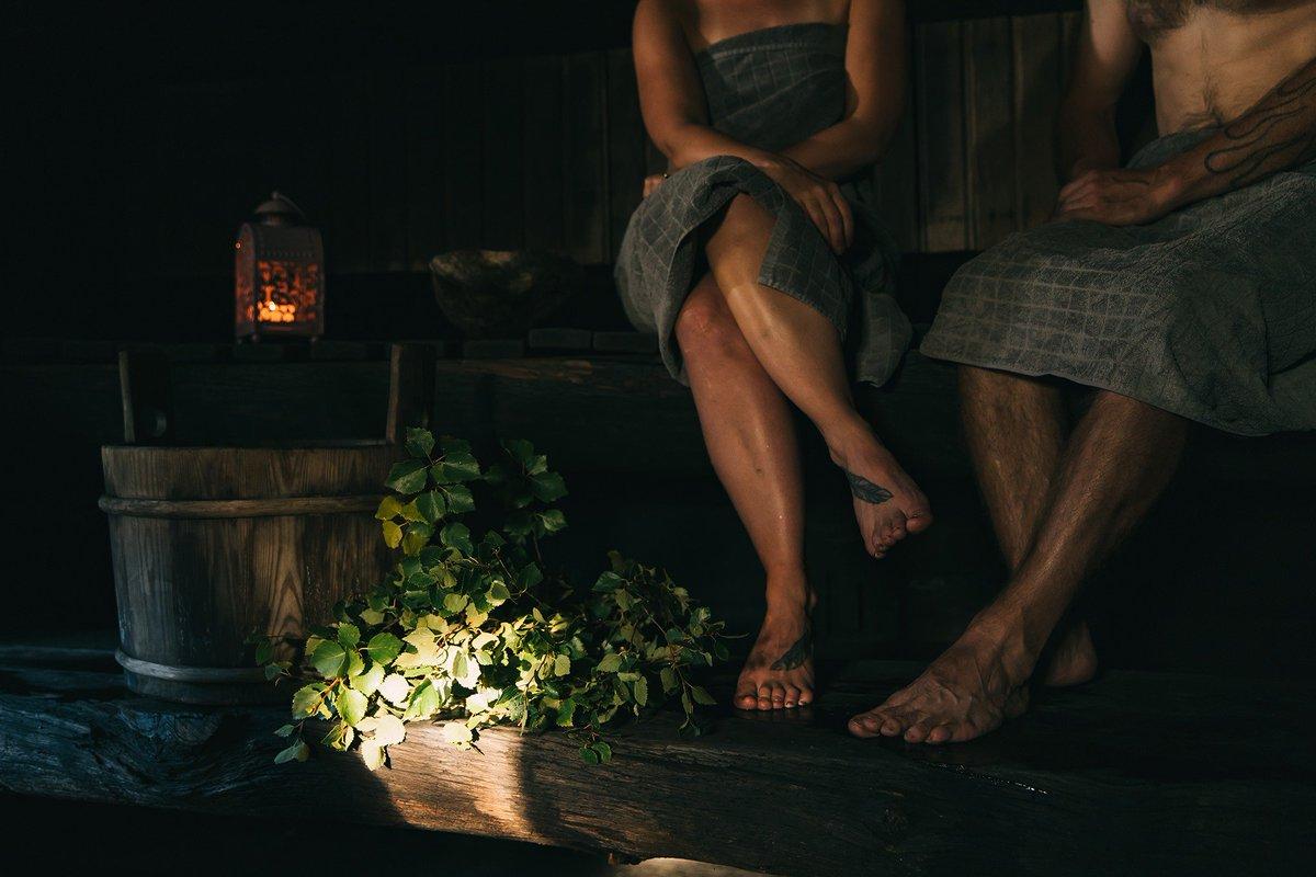 What's your favorite part of Finnish #sauna culture?  📷: Harri Tarvainen & Terhi Tuovinen  #LaplandFinland #AboveOrdinary
