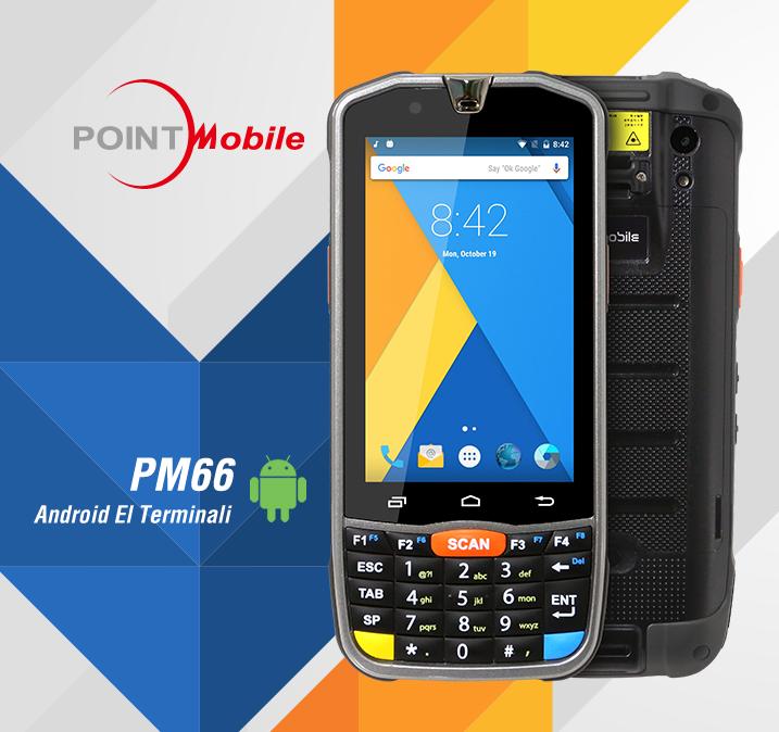 """#PointMobile #PM66 #Android #ElTerminali, 4.3"""" ekran, ince ve hafif tasarıma sahip olmasına ragmen endüstriyel bir el terminaldir. Dış mekan için 4G / LTE, aynı zamanda depo ve lojistik uygulamaları için Wi-Fi gibi çeşitli konfigürasyonlara sahiptir. http://www.depart.com.tr/el-terminalleri/point-mobile-pm66-el-terminali-1…pic.twitter.com/dabyosPK6X"""