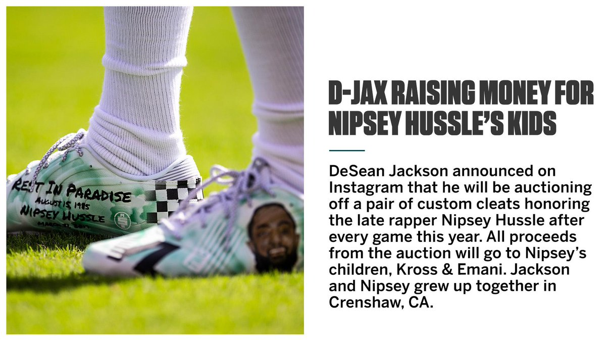 DeSean Jackson's pregame cleats will mean something more this season 🏁 https://t.co/cqikun1vkF
