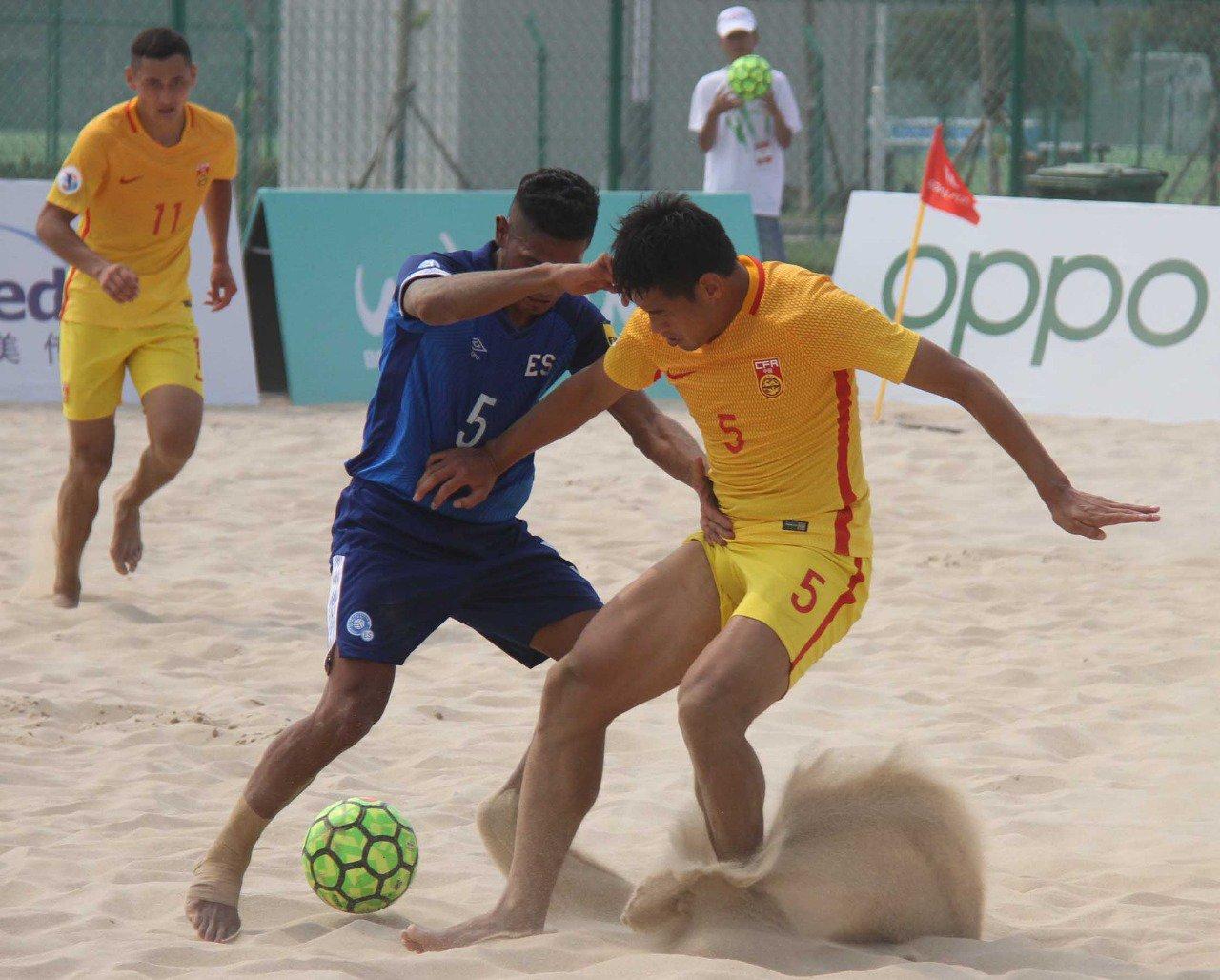 2019 Goalfun CFA China - Latino America Futbol Playa campeonato. EEBbV6UX4AEA9NM?format=jpg&name=large