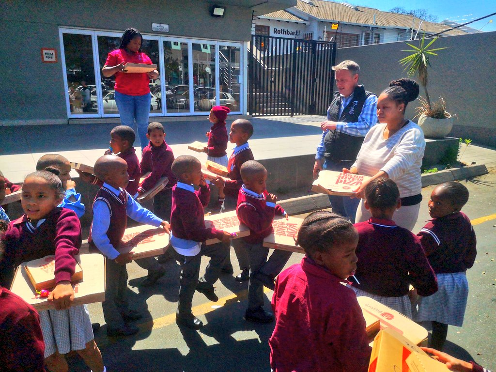 In Celebration of International Literacy Day, @Pizzahutza took @Senzekahle's grade 2 class to one of their branches and gave each child a red reading box and some pizza in support of their Literacy Project   #ThankYouPizzaHut #WorldLiteracyDay #InternationalLiteracyDay <br>http://pic.twitter.com/I4HlLAjQJ2