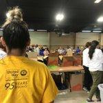 Image for the Tweet beginning: This weekend, #volunteers sorted through
