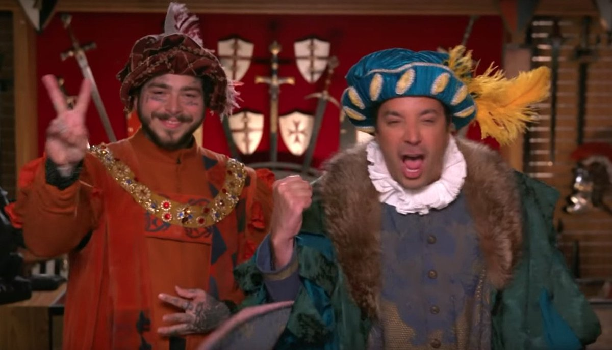 Watch @PostMalone & @JimmyFallon visit Medieval Times together https://gum.to/zoyDtb