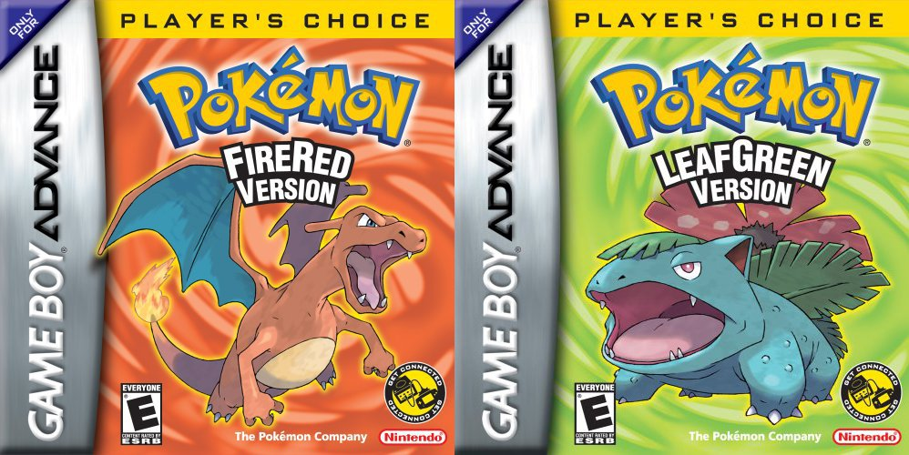 Pokémon FireRed and LeafGreen first released in North America on this day in 2004, bundled with the Game Boy Advance Wireless Adapter for wireless battles and trading. They were ultimately the second best-selling GBA games - behind only Pokemon Ruby and Sapphire.