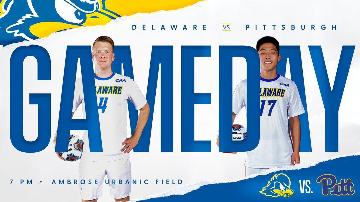 2nd half just kicked off // @DelawareMSOC Lineup includes @DelawareFC 2000 - 2001 Alumni: @jackleonard95  @alvin_halley14  @BSengphachanh
