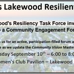 Image for the Tweet beginning: Don't forget! The Lakewood Resiliency