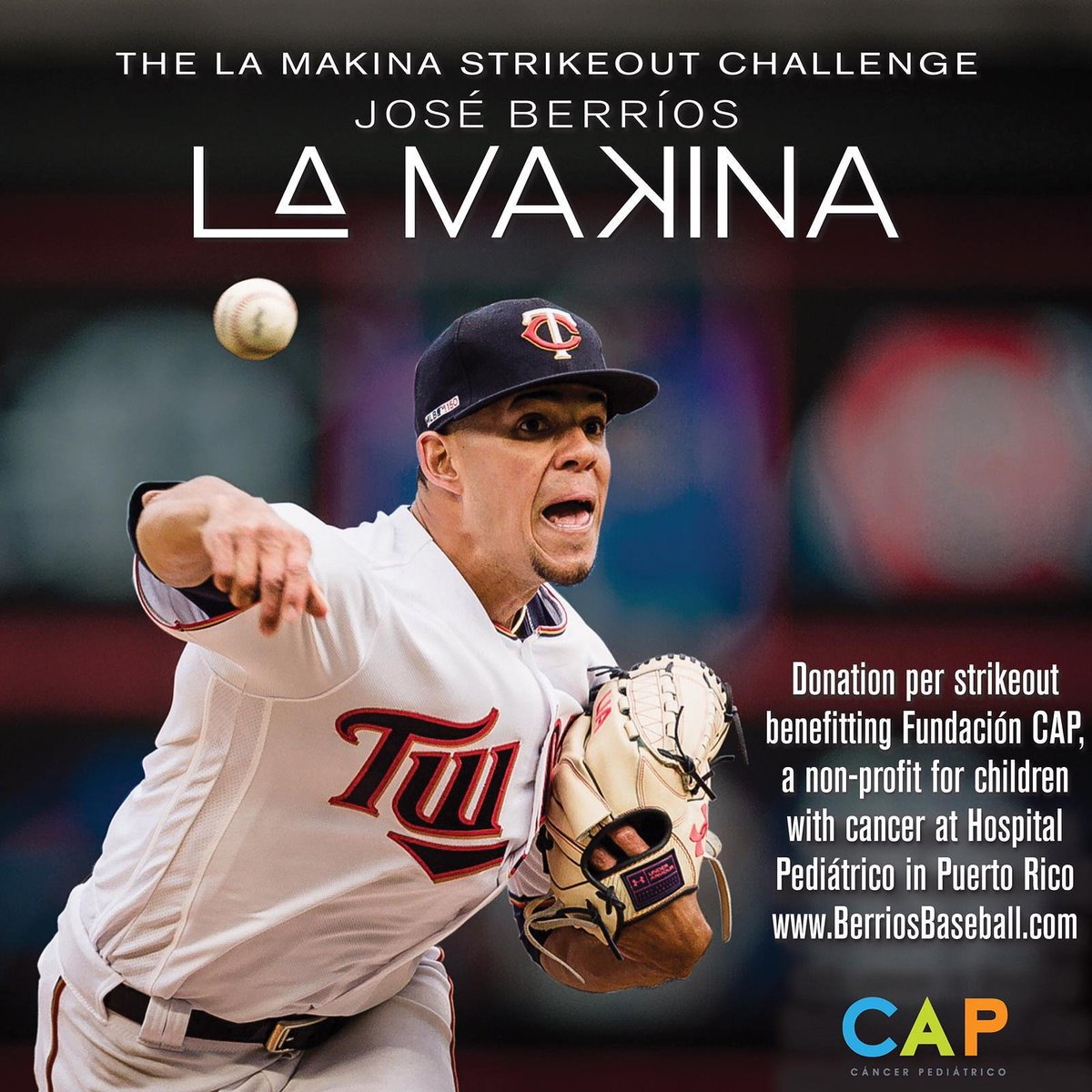 A child is diagnosed w/cancer worldwide every three minutes. September is National Childhood Cancer Awareness Month. Please join me in making a donation berriosbaseball.com to benefit @fundacioncap 🇵🇷. Last month of my #LaMaKina strikeout challenge, let's finish strong! 💪🏾🙏🏾