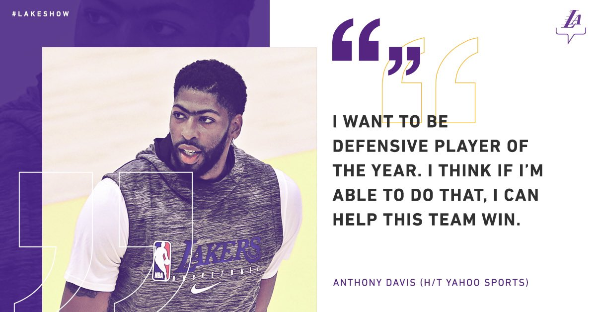 AD is on a mission 🙌 #LakeShow