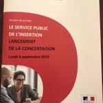 Image for the Tweet beginning: Lancement de la concertation pour