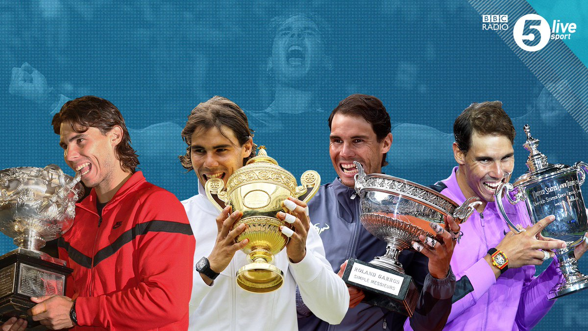 🏆 Rafael Nadal beat Daniil Medvedev last night to win his 19th Grand Slam title1⃣2⃣ French Open 🇫🇷4⃣ US Open 🇺🇸2⃣ Wimbledon 🇬🇧1⃣ Australian Open 🇦🇺👀 One behind Roger Federer#bbctennis