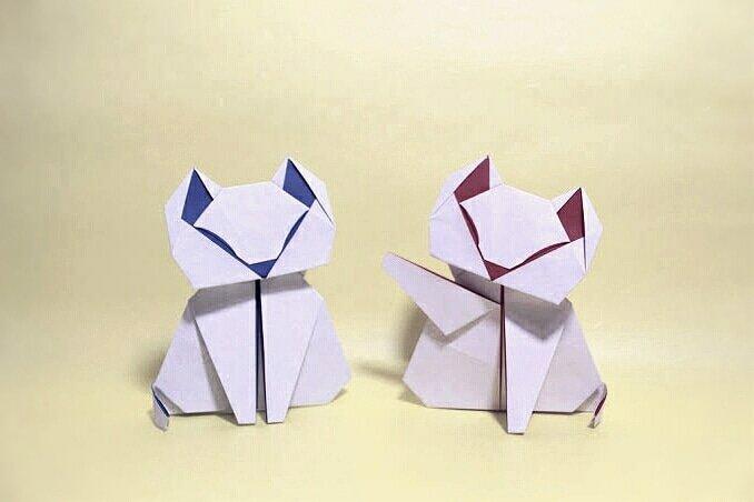 Origami Cat Mask • Yelo Pomelo | 452x678