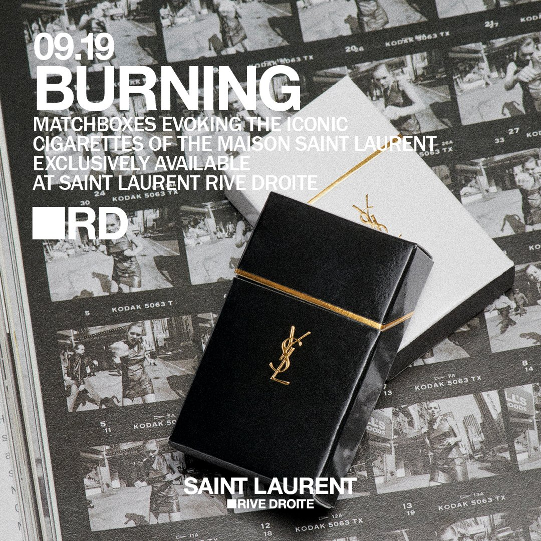 BURNING.  Exclusively available at  SAINT LAURENT RIVE DROITE. #SaintLaurentRiveDroite #RD #YSL   http:// saintlaurentrivedroite.com    <br>http://pic.twitter.com/ZzxjTgNArV