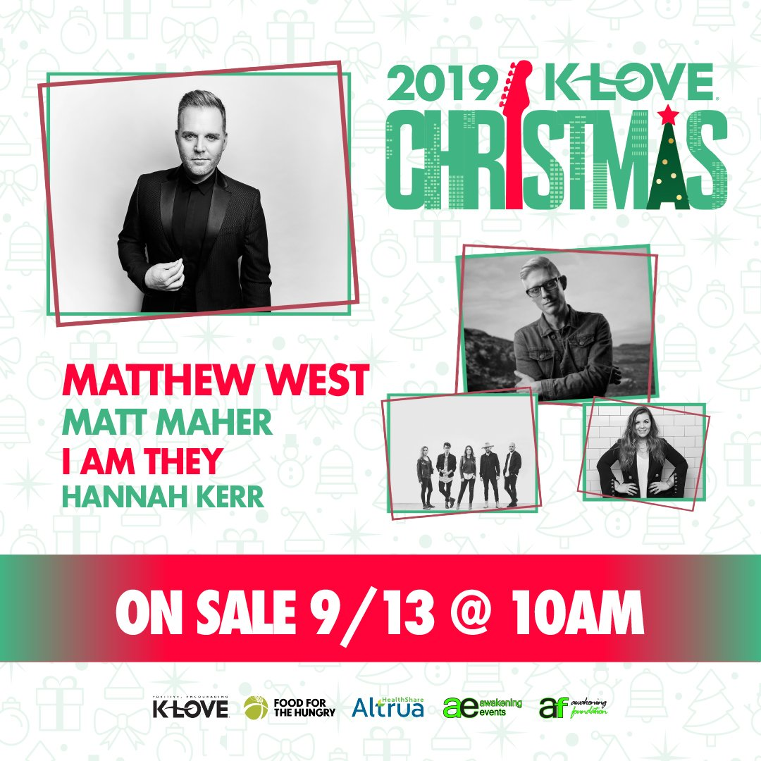 Klove Christmas Tour 2019.I M So Excited To Be Part Of The K Love Christmas Tour This