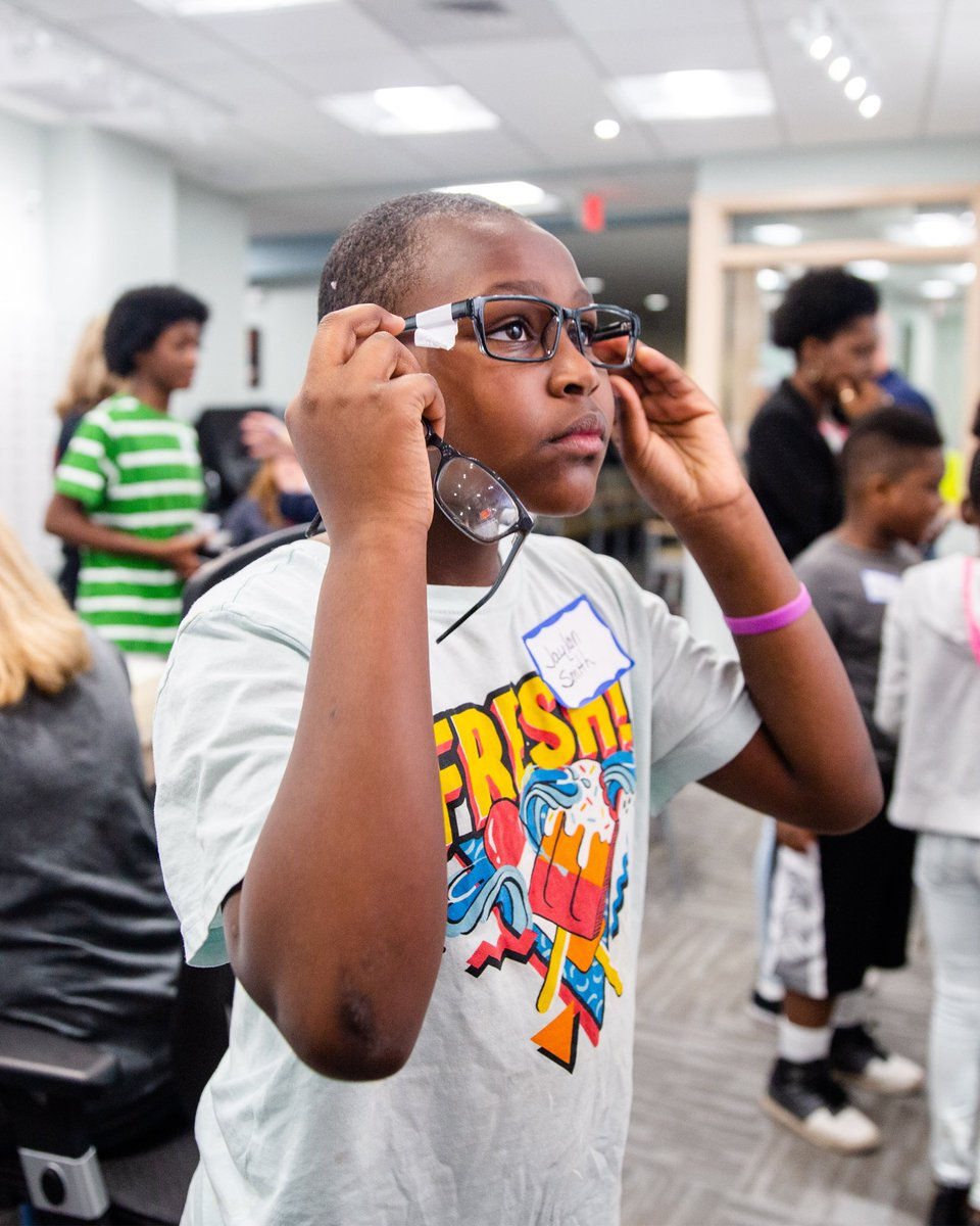 How can a student learn if they can't see? Northeast Ohio Eye Surgeons provided our students and their families free eye exams, lenses and frames… and the opportunity to see themselves as the stars we see them as! 🤩